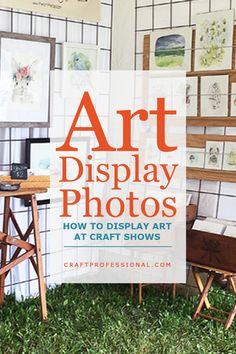 These display stands for art shows will help you display your prints or original art at its best and your next craft fair. These display stands for art shows will help you display your prints or original art at its best and your next craft fair. Craft Show Booths, Craft Booth Displays, Photo Displays, Display Ideas, Booth Ideas, Art Display Panels, Photography Booth, Fun Craft, Craft Ideas
