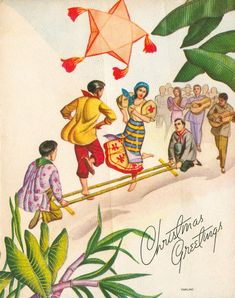 I love vintage ephemera of any kind, especially Christmas greeting cards. I recently got a few native cards I'd like to share. The graph. Filipino Art, Filipino Culture, Filipino Tattoos, Philippine Mythology, Philippine Art, Folk Dance, Dance Art, Cebu, Manila