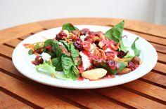 Salade met noten en frambozendressing // Francesca Kookt