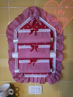 Alıntı Diy And Crafts, Crafts For Kids, Paper Crafts, Sewing Crafts, Sewing Projects, Towel Apron, Coin Couture, Donia, Hanging Organizer