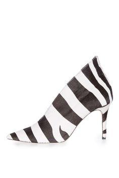 **Pointed Zebra Heels by Unique