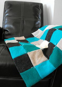 quilt from old sweaters.