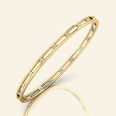 Two line channel bangle