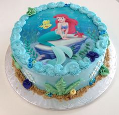 Mermaid Ariel Birthday cake For all your cake decorating supplies