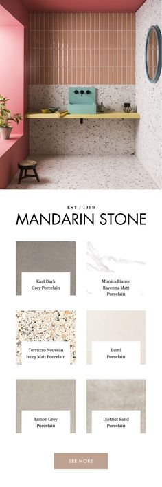 Explore our range of stylish porcelain and ceramic tiles and flooring in endless designs & formats. Purchase floor & wall tiles online here at Mandarin Stone. Mandarin Stone, Adams Homes, Outdoor Stone, Tiles Online, Teen Room Decor, Porcelain Ceramics, Tile Bathrooms, Small Bathroom, Bathroom Ideas