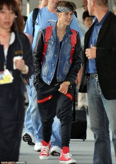Justin Bieber models the lates line from J C Penneys Thug Life collection.