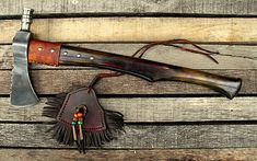 Gallery of some of my past works. Custom-tomahawks, pipe-tomahawks and trade-axe Tomahawk Axe, Native American Crafts, Art And Craft Design, Sticks And Stones, Survival Tools, Custom Knives, Knife Making, Blacksmithing, Leather Working