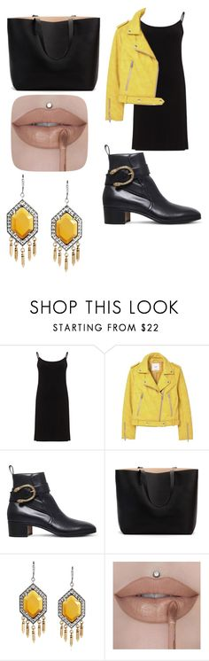 """""""The virgin - cabelo azul"""" by nessasilva ❤ liked on Polyvore featuring Peter Luft, MANGO and Gucci"""