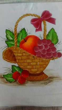Drawing Fruit Basket Drawing, Art Drawings For Kids, Fruits Basket, Paper Cutting, Colored Pencils, Pencil Drawings, Paintings, Canvas, Crafts