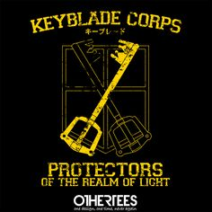"""Keyblade Corps "" by alecxps Shirt on sale until 11 June on othertees.com Pin it for a chance at a FREE TEE! #kingdomhearts"