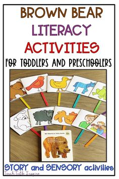 Brown Bear Brown Bear Activities for Toddlers and Preschoolers. FREE Brown Bear Brown Bear Activities to be used at home and in school. Activities can be used for color identification, fine motor practice, and gross motor activities! Bear Activities Preschool, Preschool Colors, Art Therapy Activities, Color Activities, Preschool Learning, Toddler Preschool, Toddler Learning, Preschool Activities, Brown Bear Activities