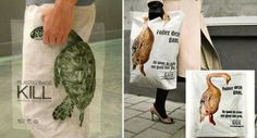Plastic bags kill. A quite paradoxial campaign