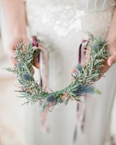 Take a cue from Irish brides, who generally carried wildflowers, whether in bouquets or in crowns atop their heads.