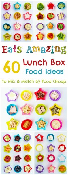 Eats Amazing UK - 60 Lunch Box Food Ideas to Mix and Match! - A really useful guide with tips for creating a quick, easy, healthy AND balanced packed lunch! Never run out of kids lunch box ideas again (Mix Match Food) Kids Packed Lunch, Kids Lunch For School, School Lunches, Kids Lunch Box Ideas Schools, Pre School, Lunch Box Bento, Lunch Snacks, Lunch Boxes, Lunch Box Recipes
