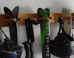 4 Snowboard / Wakeboard Wall Storage Rack by WillowHeights on Etsy