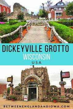 The Dickeyville Grotto in Dickeyville Wisconsin USA Wisconsin Vacation, Wisconsin Dells, Wisconsin Cheese, Places To Travel, Places To Go, South Dakota Travel, Road Trip Destinations, Worldwide Travel, Road Trip Usa
