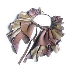 """""""Laila"""" leather cape by Giulia Boccafogli"""