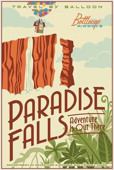 Cute Poster, Poster Wall, Poster Prints, Gig Poster, Vintage Disney Posters, Vintage Cartoon, Photo Wall Collage, Picture Wall, Paradise Falls