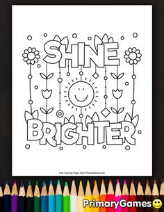 Download or Print the Free Let Your Light Shine Coloring ...