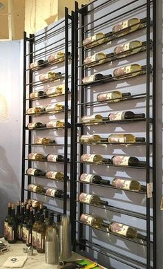 space saving wine rack, wall wine rack, metal wine rack