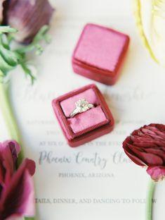 Engagement ring, The Mrs Box, diamond solitaire - Phoenix Country Club wedding photos - Phoenix Wedding Photographer - Rachel Solomon Photography
