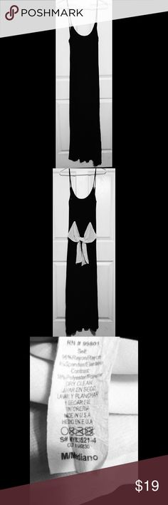 Black Backless Maxi Dress Lightly worn still in great condition! Fourth picture isn't mine, Added to give more of a visual on the dress. My Story Dresses Maxi