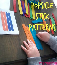 Everything Mama: Popsicle Stick Patterns For Toddlers