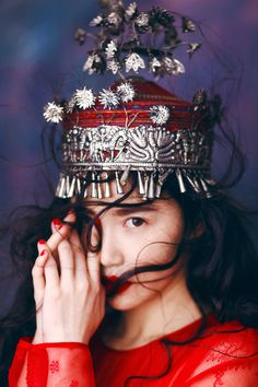 Silver Tiara Vintage Costume Hmong Tribal Jewelry http://www.interactchina.com/servlet/the-Ladies-Fashion-cln-Hair-Accessories/Categories