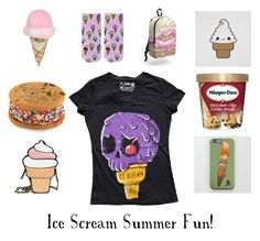 """Ice Scream Summer Fun!"" by akumuink ❤ liked on Polyvore featuring cutekawaii and Pet London"