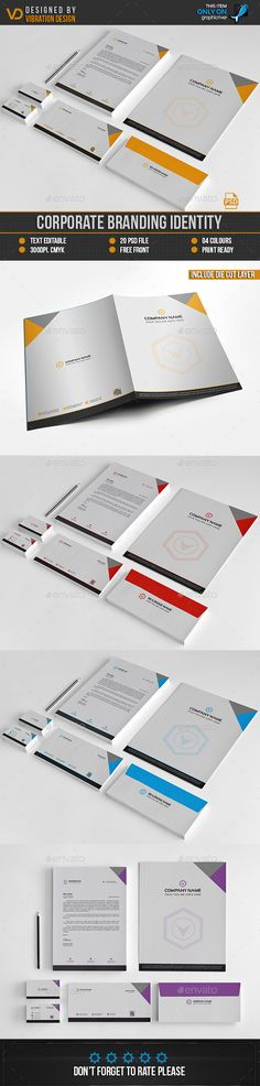 #Corporate Branding Stationary - Stationery Print Templates.Download here: http://graphicriver.net/item/corporate-branding-stationary/16291993?ref=arroganttype