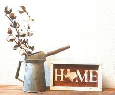 Texas Home Framed Sign (redoak)