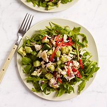 Image of Greek Tuna Salad Over Arugula