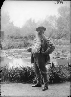 19thcenturyswagger:  Claude Monet, Giverny, 1905. Photo by Jacques-Ernest Bulloz. (source: http://ift.tt/1oz81oP)