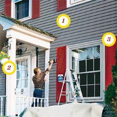 Cabin Exterior Paint Schemes | Exterior paint color suggestions ...