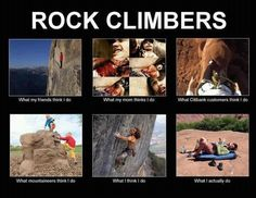 The perceptions of rock climbers