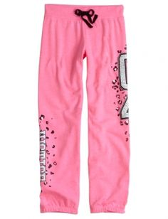 Justice Animal Fleece Cuff Pant - for to and from dance/gymnastics