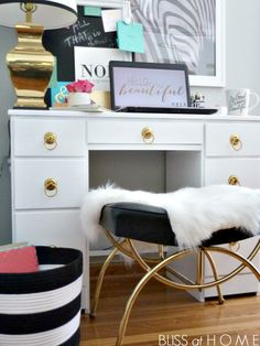 Glam desk and workspace