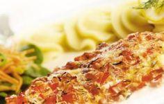 Vis met tomaat uit de oven met boursin.