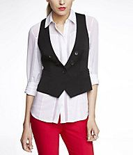 FAUX DOUBLE BREASTED VEST #EXPRESS  -but I'd tuck in the shirt and wear a tie :3