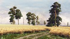 """Replica picture I. I. Shishkin """"Rye"""" 1878 on Behance"""