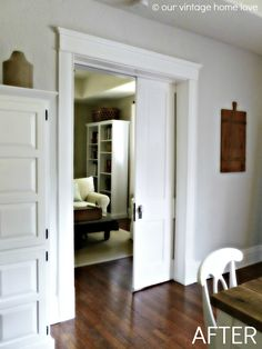 Paint color - BM Classic Gray on walls and Valspar Ultra White on trim, like floor color