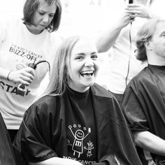 Appreciating our brave buzzee ladies for our #wcw! They shaved off their hair in honor of children with cancer and prove that bald is beautiful! #buzzforkids #baldisbeautiful