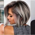 20 attractive hairstyles for a special night - hairstyles 2019 - . - 20 attractive hairstyles for a special night - Short Brown Hair, Brown Blonde Hair, Short Hair Cuts, Short Hair Styles, Brown To Grey Hair, Grey Hair Bob, Grey Hair Styles, Bob Hair Color, Grey Hair Transformation