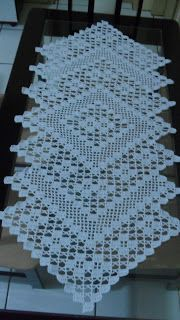 solange pinturas e artes Crochet Flower Tutorial, Crochet Flower Patterns, Doily Patterns, Crochet Flowers, Crochet Table Runner Pattern, Crochet Tablecloth, Crochet Doilies, Crochet Freetress, Fillet Crochet