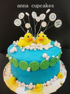 rubber ducky fullmoon by annacupcakes
