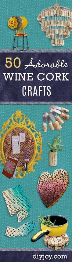 Wine Cork Crafts Ideas and DIY Projects for the Home with Wine Corks by DIY JOY Tutorials and Instructions