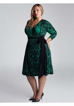 Plus Size Neve Wrap Dress in Jade image