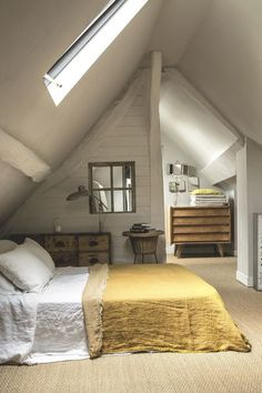1881 Best Attic Spaces images in 2019   Attic loft, Attic conversion Decorating With Vaulted Ceilings In Attic Bedroom Html on