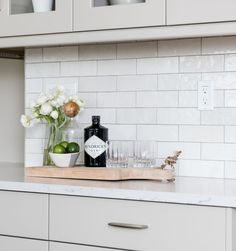 Pairing grey grout with this Cloé in White accentuates the different color tones in this collection White Tiles Grey Grout, White Subway Tile Bathroom, Subway Tile Showers, Grey Subway Tiles, Ceramic Subway Tile, Shower Tiles, Concrete Bathroom, White Bathrooms, Luxury Bathrooms