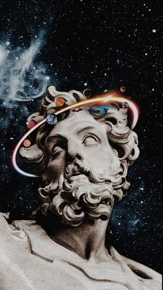 Your imagination could be fed with these breathtaking art designs, using art photography, art crafts, electricity art co Vaporwave Wallpaper, Trippy Wallpaper, Galaxy Wallpaper, Wallpaper Art, Collage Kunst, Collage Art, Aesthetic Painting, Aesthetic Art, Aesthetic Pastel Wallpaper
